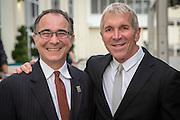 John Lawrence and Arthur Roger at Arts Council of New Orleans' Community Arts Awards at Mardi Gras World on December 3, 2014