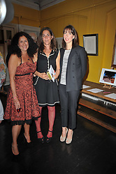 Left to right, JO MANUEL, VICTORIA ANDREAE and SAMANTHA CAMERON at The Special Yoga Centre's annual art auction held at the 20th Century Theatre, 291 Westbourne Grove, London W11 on 16th May 2011.
