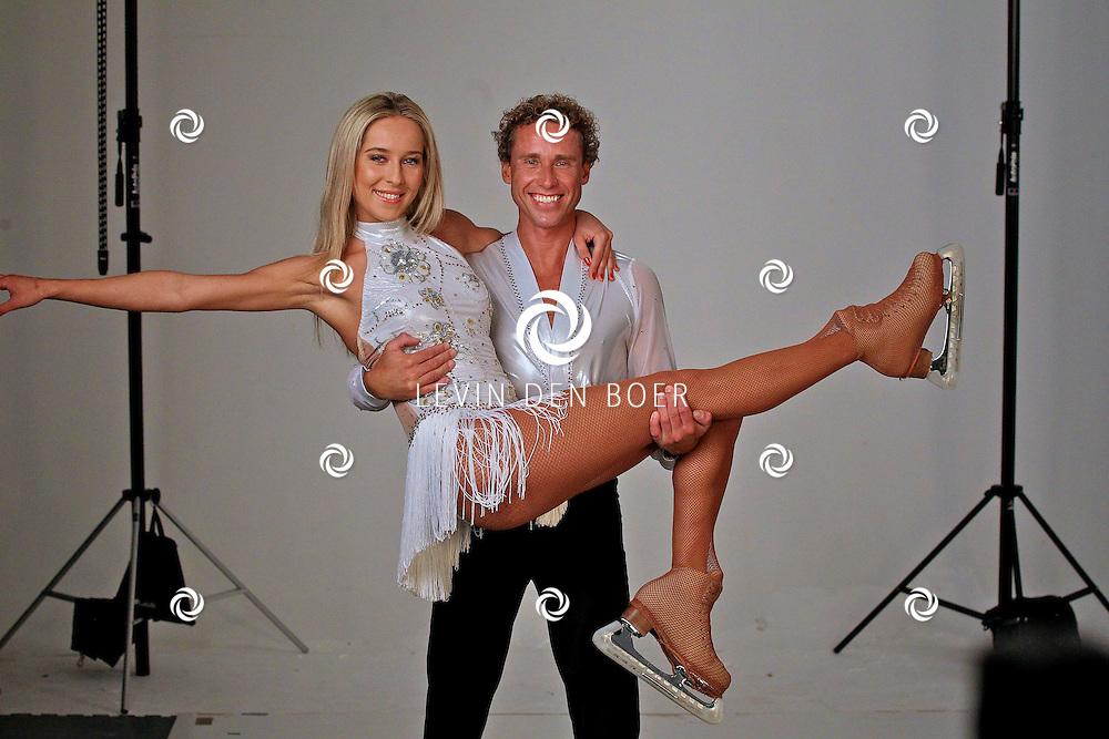 AMSTERDAM - In de fotostudio van Michel Porro is een fotosessie geweest met de specialguest van Holiday On Ice Tropicana The Passion Tour.  Met op de foto voormalig beroepswielrenner Michael Boogerd en zijn schaatspartner Darya Nucci. FOTO LEVIN DEN BOER - PERSFOTO.NU