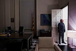 Barcelona, Spain<br /> Josep Lluis Carod Rovira politician and expresident of Esquerra Republicana de Catalunya, the day before he leaves his position.<br /> &copy;Carmen Secanella