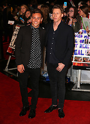 Tom Daley and Dustin Lance Black attend The Hunger Games: Mockingjay Part 2 - UK Premiere at Odeon Leicester Square in London, UK. 05/11/2015<br />
