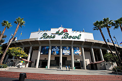PASADENA, CA - SEPTEMBER 05:  General view of the exterior of the Rose Bowl before the game between the UCLA Bruins and the Virginia Cavaliers on September 5, 2015 in Pasadena, California. The UCLA Bruins defeated the Virginia Cavaliers 34-16. (Photo by Jason O. Watson/Getty Images) *** Local Caption ***