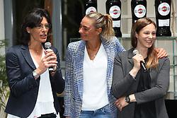 CONSUELO MANGIFESTA MAURIZIA CACCIATORI E ELEONORA LO BIANCO<br /> CONFERENZA LEGA VOLLEY FEMMINILE SQUADRE ITALIANE PROTAGONISTE IN EUROPA<br /> FOTO FILIPPO RUBIN / LVF