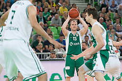 Bojan Krivec of Krka during basketball match between KK Union Olimpija and KK Krka in 4nd Final match of Telemach Slovenian Champion League 2011/12, on May 24, 2012 in Arena Stozice, Ljubljana, Slovenia. Krka defeated Union Olimpija 65-55. (Photo by Grega Valancic / Sportida.com)