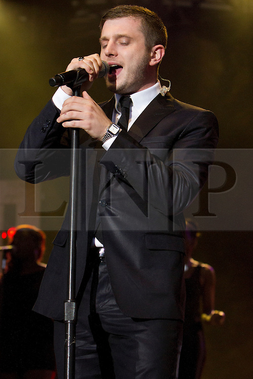 © Licensed to London News Pictures. 06/07/2012. St Austell, UK. Plan B performs on stage at the Eden Project. Photo credit : Ashley Hugo/LNP
