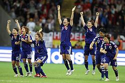 17-07-2011 VOETBAL: FIFA WOMENS WORLDCUP 2011 FINAL JAPAN - USA: FRANKFURT<br /> Jubel Japan nach dem WM titel Gewinn<br /> ***NETHERLANDS ONLY***<br /> ©2011-FRH- NPH/Mueller