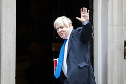 © Licensed to London News Pictures. 21/09/2017. London, UK. Foreign and Commonwealth Secretary Boris Johnson arriving in Downing Street to attend a Cabinet meeting this morning. Photo credit : Tom Nicholson/LNP