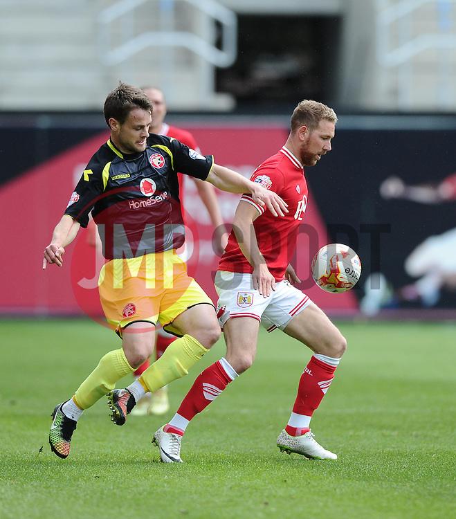 Bristol City's Scott Wagstaff battles for the ball - Photo mandatory by-line: Joe Meredith/JMP - Mobile: 07966 386802 - 03/05/2015 - SPORT - Football - Bristol - Ashton Gate - Bristol City v Walsall - Sky Bet League One