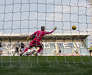 Inverness&rsquo; Alex Fisher scores his side's second goal - Dundee v Inverness Caledonian Thistle in the Ladbrokes Scottish Premiership at Dens Park, Dundee, Photo: David Young<br /> <br />  - &copy; David Young - www.davidyoungphoto.co.uk - email: davidyoungphoto@gmail.com