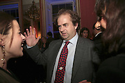 ALEXANDER WAUGH , Literary Review's Bad Sex In Fiction Prize.  In & Out Club (The Naval & Military Club), 4 St James's Square, London, SW1, 29 November 2006. <br />