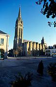 France, Brittany.  La Guerche-de-Bretagne Church spire.