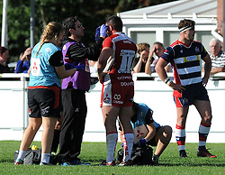 Claret and white for Harry Robinson of Gloucester United - Mandatory by-line: Paul Knight/JMP - 02/10/2016 - RUGBY - Hyde Park - Taunton, England - Bristol United v Gloucester United - Aviva A League