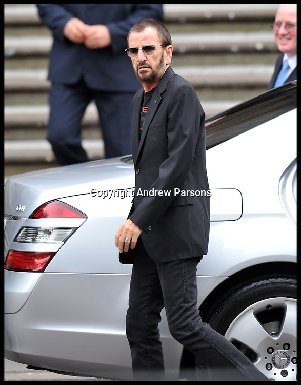 Ringo Star arrives for the Former Beatle Sir Paul McCartney marries for the third time to Nancy Shevell at Old Marylebone Town Hall, London, Sunday October 9, 2011. Photo By Andrew Parsons
