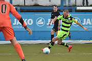 Forest Green Rovers Liam Noble(15  during the Vanarama National League match between Barrow and Forest Green Rovers at Holker Street, Barrow, United Kingdom on 28 January 2017. Photo by Mark Pollitt.