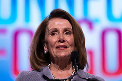 March 26, 2019 - Washington, D.C, United States - U.S. House Speaker Nancy Pelosi (D-CA), speaks at the 2019 American Israel Public Affairs Committee (AIPAC) Policy Conference, at the Walter E. Washington Convention Center in Washington, D.C., on Tuesday, March 26, 2019. (Credit Image: © Cheriss May/NurPhoto via ZUMA Press)