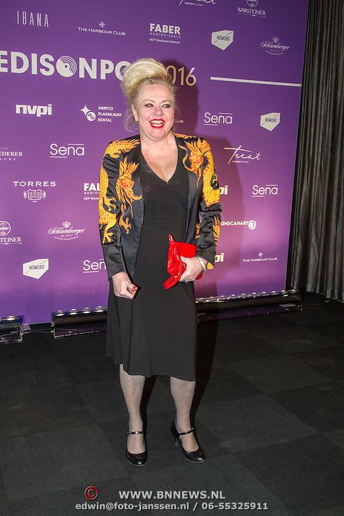 NLD/Amsterdam/20160321 - Edison Pop Awards 2016, Mieke Stemerdink