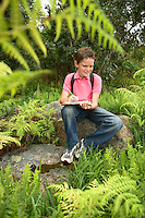 Boy Studying Plants