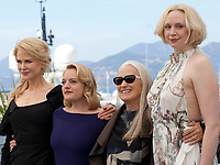 Nicole Kidman, Elisabeth Moss director Jane Campion and Gwendoline Christie at the Top Of The Lake: China Girl photo call at the 70th Cannes Film Festival Tuesday 23rd May 2017, Cannes, France. Photo credit: Doreen Kennedy