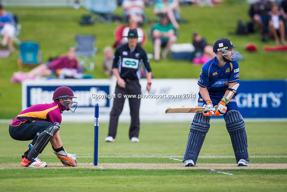 Nathan McCullum bats for the Otago Volts during the Volts v Knights, 27 December 2014Saturday, 27 December 2014, Molyneux Park, Alexandra - List-A Match - Ford Trophy CREDIT: Libby Law / www.photosport.co.nz