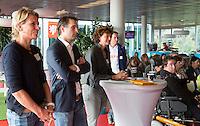 AMSTERDAM - Henriette van Aalderen, Guido Davio, Karin Pannekoek . KNHB Symposium Train de Trainer, voor trainer, coach , begeleider binnen het aangepaste hockey. Dit alles in het Ronald MacDonald Centre in Amsterdam. COPYRIGHT KOEN SUYK