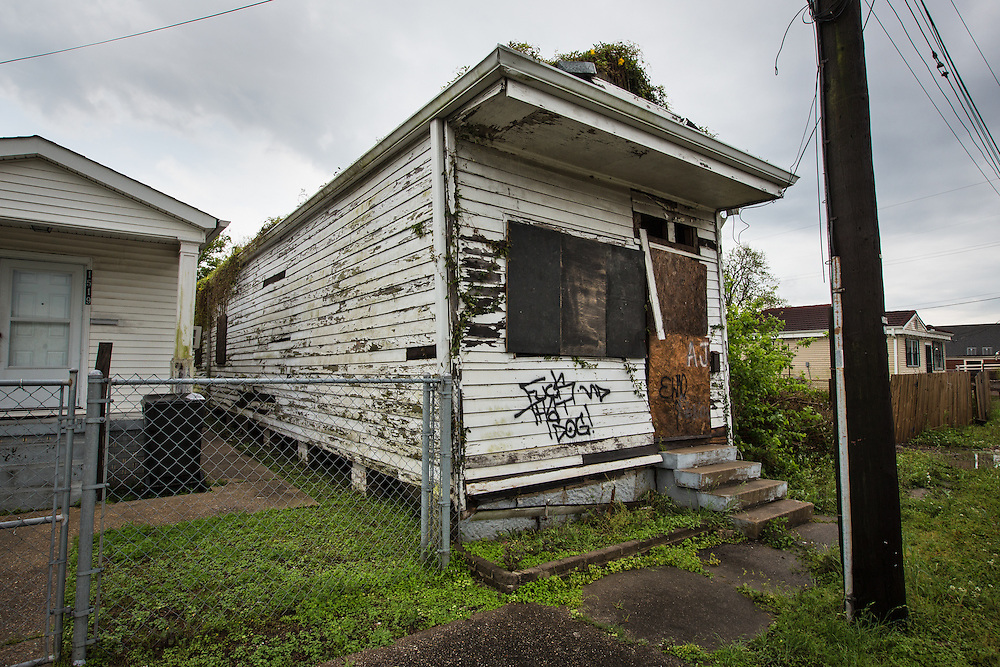 April 11, 2013, Blighted home in New Orleans almost eight years after Hurricane Katrina in the 9th Ward.