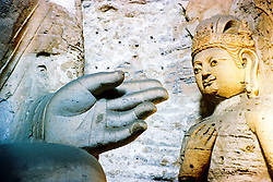 China, Datong, 2007. The priceless Buddhist sculptures of Yungang Shiku are located in caves outside the industrial center of Datong. The municipal authorities are well aware of the importance of cultural preservation..