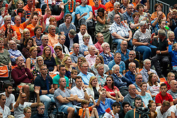 11-08-2019 NED: FIVB Tokyo Volleyball Qualification 2019 / Netherlands - USA, Rotterdam<br /> Final match pool B in hall Ahoy between Netherlands vs. United States (1-3) and Olympic ticket  for USA / Support, Fans, de Volaren