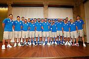 Milano 24 Luglio 2013<br /> Basket Europei Maschili 2013/2014<br /> Media Day Nazionale Italiana Pallacanestro Maschile<br /> nella foto Squadra Team Italia<br /> foto Ciamillo
