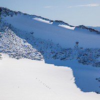 Glacier walking on Falkebreen below Falketind