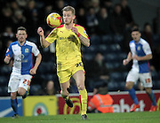 Luke Hyam (Rotherham United) about to control the ball on his chest while running forward during the Sky Bet Championship match between Blackburn Rovers and Rotherham United at Ewood Park, Blackburn, England on 11 December 2015. Photo by Mark P Doherty.