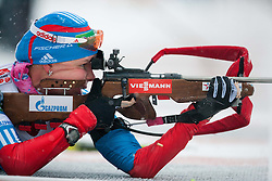 Shumilova Ekaterina of Russia competes during Ladies 7,5 km Sprint of the e.on IBU Biathlon World Cup on Thursday, December 14, 2012 in Pokljuka, Slovenia. The third e.on IBU World Cup stage is taking place in Rudno polje - Pokljuka, Slovenia until Sunday December 16, 2012. (Photo By Vid Ponikvar / Sportida.com)