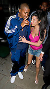 21.JULY.2010. LONDON<br /> <br /> AMY WINEHOUSE AND RAPPER NAS SEEN AT KYASHII, COVENT GARDEN, LONDON<br /> <br /> BYLINE: EDBIMAGEARCHIVE.CO.UK<br /> <br /> *THIS IMAGE IS STRICTLY FOR UK NEWSPAPERS AND MAGAZINES ONLY*<br /> *FOR WORLD WIDE SALES AND WEB USE PLEASE CONTACT EDBIMAGEARCHIVE - 0208 954 5968*