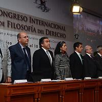 Toluca, México.- Baruch Delgado Carbajal, presidente del Tribunal Superior de Justicia del Estado de México, encabezó la inauguración del 1er Congreso Internacional de Filosofía del Derecho. Agencia MVT / Arturo Hernández.
