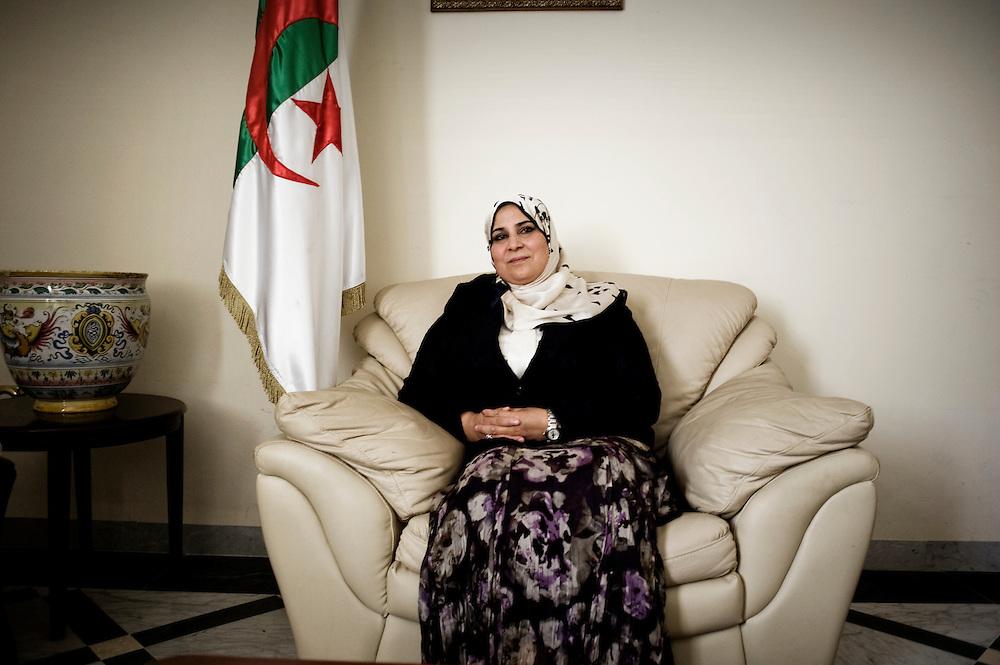 Alger May 10. Asma Benkada, ex wife of Yusuf al-Qaradawi (Egyptian Islamic theologian) popular Al Jazeera's anchorwoman elected on the list of FLN (National liberation front) at the last legislatives elections.  Popoular Al Jazeera's anchorwoman, actually teacher at the University