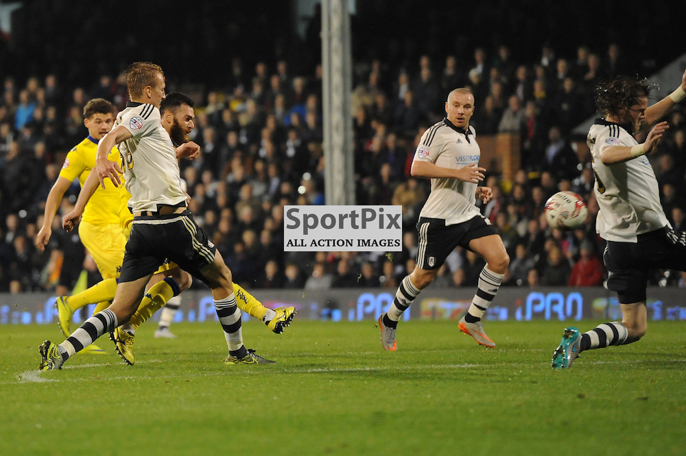 Leeds Mirco Antenucci during Fulham v Leeds United game in the Sky Bet Championship at Craven Cottage on the 21st October 2015.