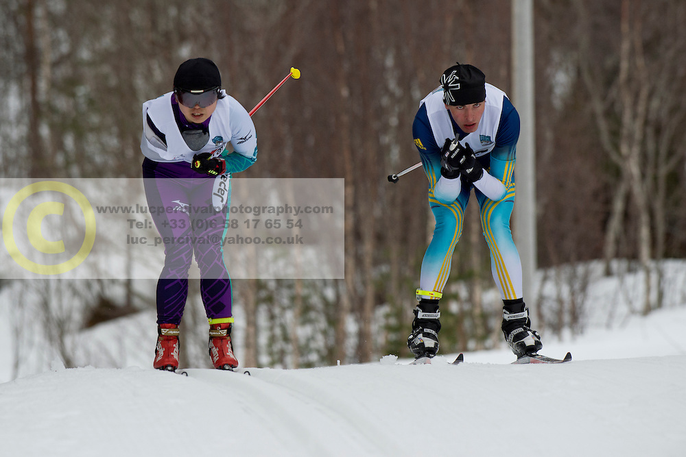 ABE Yurika, REPTYUKH Ihor, JPN, UKR, Long Distance Biathlon, 2015 IPC Nordic and Biathlon World Cup Finals, Surnadal, Norway