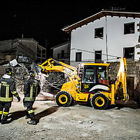 The August 24, 2016 an earthquake with normal kinematics of Mw 6.0 has hit central Italy, causing nearly 300 deaths and very serious damage to many historic towns.<br /> Since the beginning of the sequence, the National Seismic Network (INGV) has located more than 5000 events.<br /> San Lorenzo a Flaviano