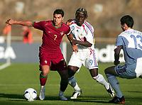 Fotball<br /> Frankrike<br /> Foto: Dppi/Digitalsport<br /> NORWAY ONLY<br /> <br /> FOOTBALL - EUROPEAN UNDER 21 CHAMPIONSHIP 2006 - GROUP A - PORTUGAL v FRANKRIKE - 23/05/2006<br /> <br /> RICARDO QUARESMA (POR) / BAKARI SAGNA (FRA)