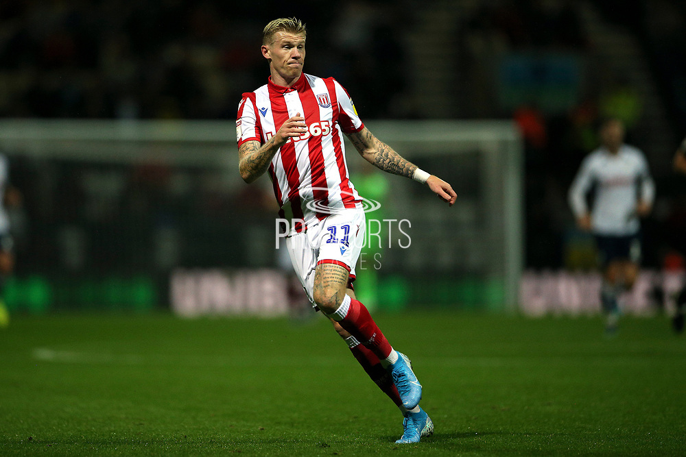 Stoke City midfielder James McClean (11) during the EFL Sky Bet Championship match between Preston North End and Stoke City at Deepdale, Preston, England on 21 August 2019.