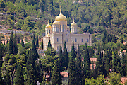 Israel, Jerusalem, the Russian Orthodox Church in Ein Karem AKA Russian Gornenskiy (Gorny) Monastery, church of all Russian Saints and Moskovia