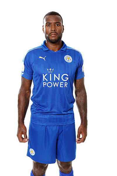 LEICESTER, ENGLAND - JULY 21: Wes Morgan during Leicester City Official Portraits at Belvoir Drive Training Complex on July 21 , 2016 in Leicester, United Kingdom.  (Photo by Plumb Images/Leicester City FC via Getty Images)