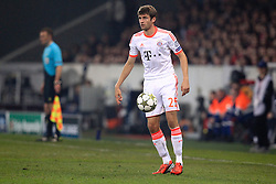 23.10.2012, Grand Stade Lille Metropole, Lille, OSC Lille vs FC Bayern Muenchen, im Bild Thomas MUELLER (FC Bayern Muenchen - 25) Freisteller // during UEFA Championsleague Match between Lille OSC and FC Bayern Munich at the Grand Stade Lille Metropole, Lille, France on 2012/10/23. EXPA Pictures © 2012, PhotoCredit: EXPA/ Eibner/ Ben Majerus..***** ATTENTION - OUT OF GER *****