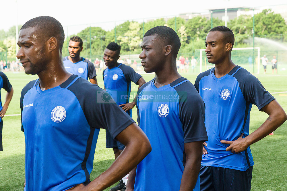 June 22, 2017 - Gent, BELGIUM - Gent's Mamadou Sylla Diallo, Gent's new player Keita and Gent's new player Imbrum pictured in action during the first training session for the new 2017-2018 season of Jupiler Pro League team KAA Gent, in Gent, Thursday 22 June 2017. BELGA PHOTO JAMES ARTHUR GEKIERE (Credit Image: © James Arthur Gekiere/Belga via ZUMA Press)
