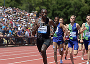 Jun 30, 2019; Stanford, CA, USA; Timothy Cheruiyot (KEN) wins the Bowerman  Mile in 3:50.49 during the 45th Prefontaine Classic at Cobb Track & Angell Field.