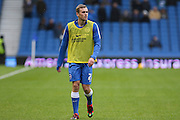 Brighton striker (on loan from Manchester United), James Wilson (21) in the warm up before the Sky Bet Championship match between Brighton and Hove Albion and Birmingham City at the American Express Community Stadium, Brighton and Hove, England on 28 November 2015. Photo by Phil Duncan.