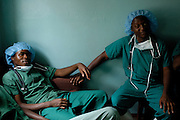 Glendale, Zimbabwe. 2006. -- Doctor and anesthesiologist at tea break after their first round of daily surgeries. -- The Howard Hospital is a well established Salvation Army rural mission hospital located north of Harare, Zimbabwe. It is so entrenched in the Chiweshe community that they consider it as their own.e