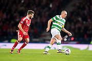 Celtic midfielder Scott Brown (#8) in action during the Scottish Cup final match between Aberdeen and Celtic at Hampden Park, Glasgow, United Kingdom on 27 November 2016. Photo by Craig Doyle.