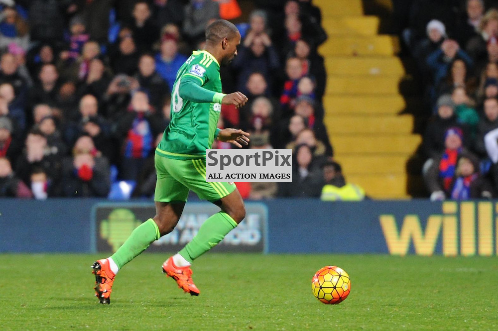 Sunderland's Jermain Defoe scores to put his side 1-0 up during Crystal Palace's clash with Sunderland in the Barclays Premier League at Selhurst Park