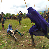 STICK FIGHTING DAY IN SURI TRIBE - ETHIOPIA