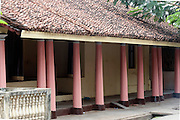 House front in old Karaikal. Pondicherry, South India.